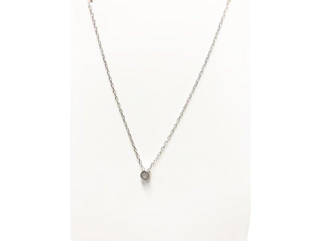 Loumya Gold | Chaîne + Pendentif - 18K Blanc Diamant