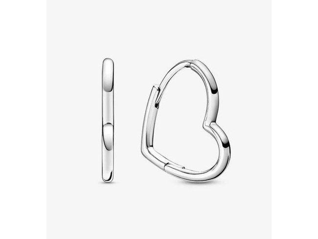 Pandora   Créoles asymétriques en forme de cœur