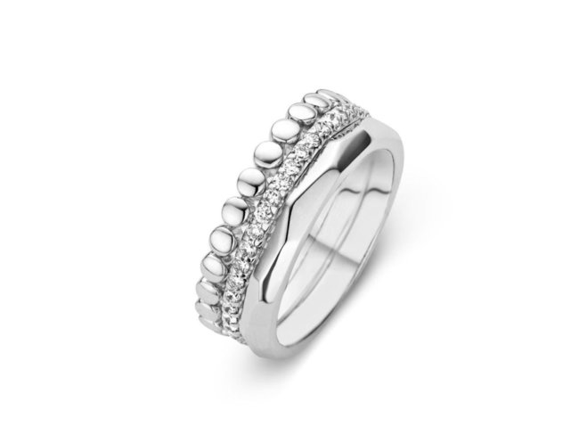 One More | Bague Ischia | Or Blanc | Diamants