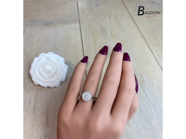 One More | Bague Eolo | Or Blanc | Diamants | 91Z610/A