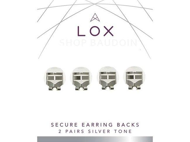 LOX Sécurité | Fermoir Boucles d'Oreilles - Acier Argenté