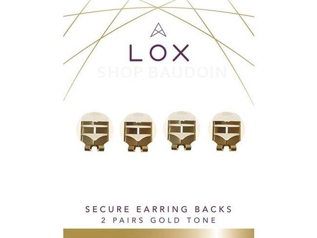 LOX Sécurité | Fermoir Boucles d'Oreilles - Acier Doré