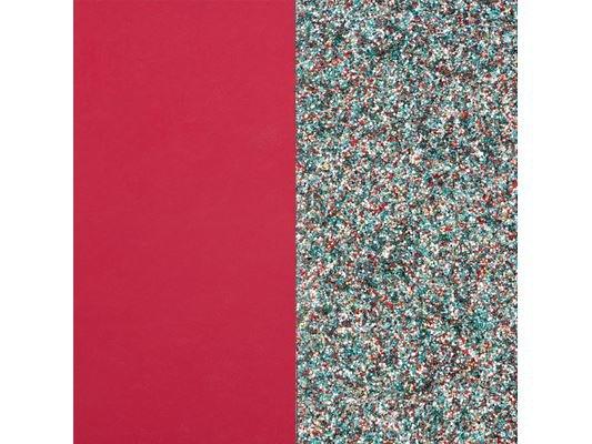 Les Georgettes | Cuir | BO |Framboise Soft/Paillettes Multicolore