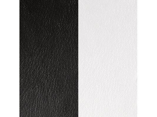 Les Georgettes | Cuirs | Boucles d'Oreilles | Noir / Blanc