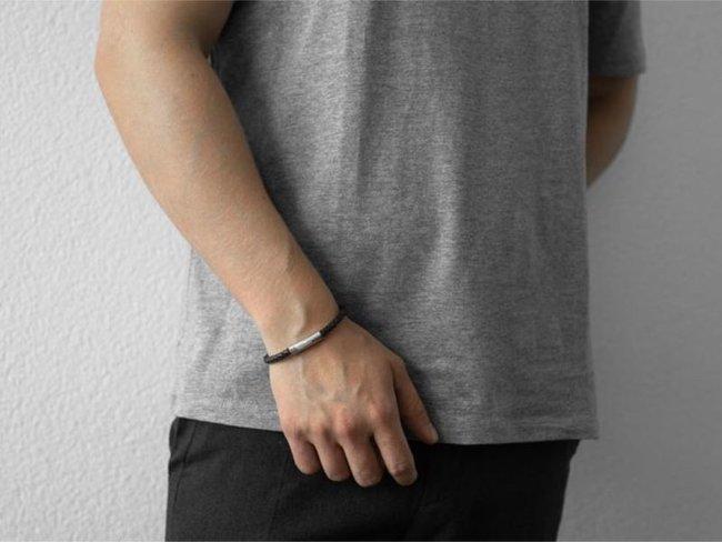 AZE Jewels | Bracelet | Iron single string brown | AZ-BL004-B