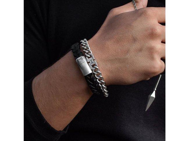 AZE Jewels | Bracelet | Iron big wave black | AZ-BL001-A