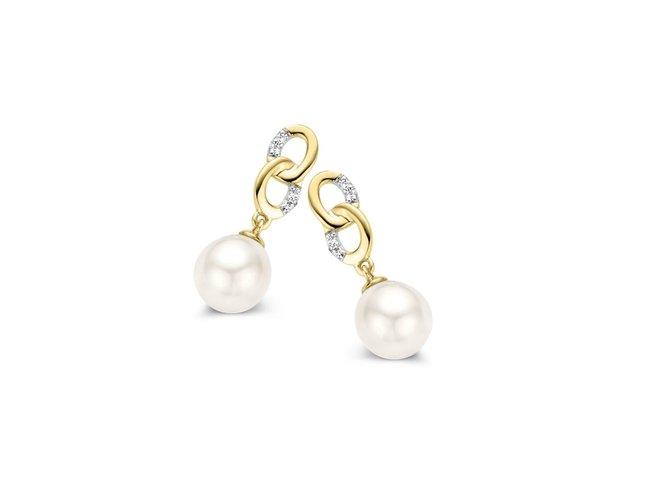 Loumya Gold | Boucles d'Oreilles | Perles | Diamants