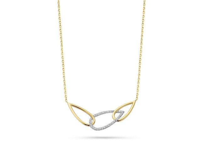 Loumya Gold   Collier   Or Bicolore   Diamants
