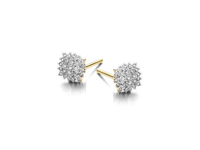 Loumya Gold | Boucles d'Oreilles | Or Bicolore | Diamants