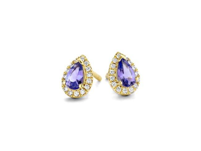 Loumya Gold | Boucles d'Oreilles | Or | Diamants | Tanzanite