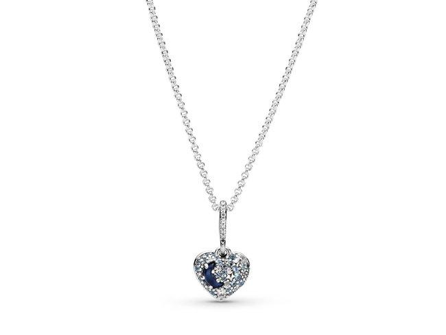 Pandora | Collier | Cœur Lune Bleue & Étoiles | 399232C01