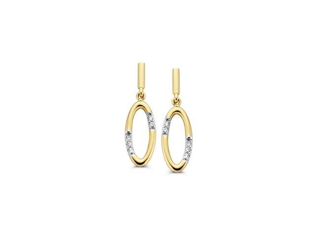 Loumya Gold | Boucles d'oreilles | Or Jaune | Diamants