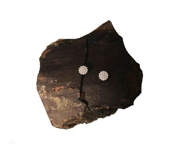 Loumya Gold | Boucles d'Oreilles | Or Blanc | Diamants