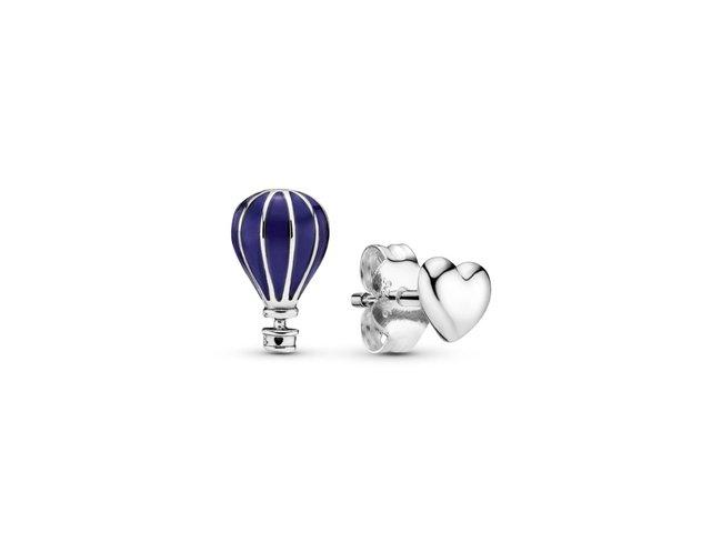 Pandora | Boucles d'oreilles | Coeur & Montgolfière