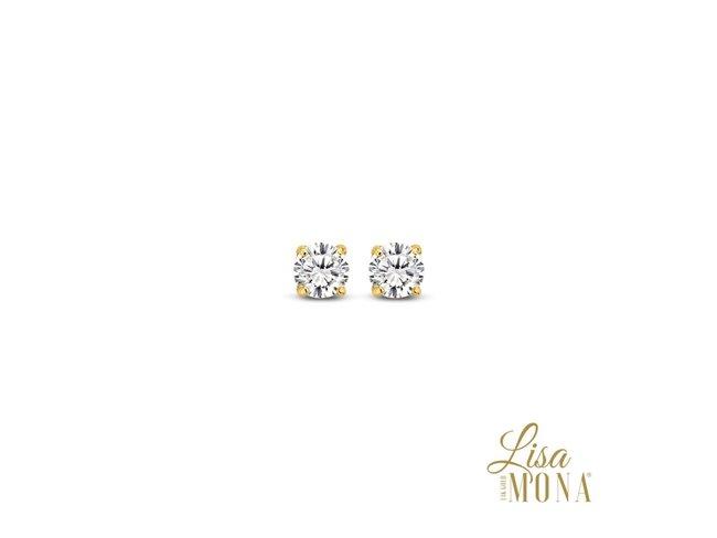 Lisa Mona 14K | Boucles d'Oreilles | Or jaune | G0004