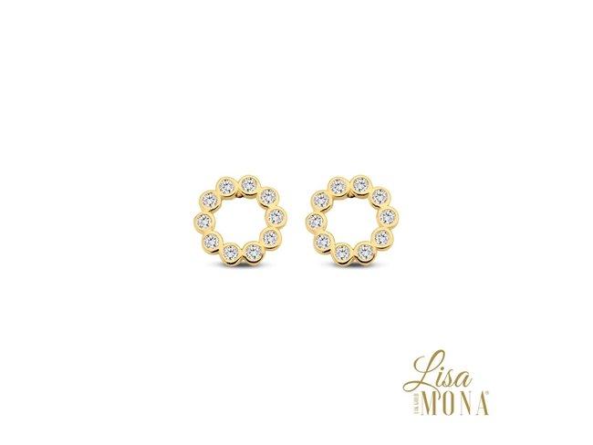 Lisa Mona 14K | Boucles d'Oreilles | Or Jaune | G0094