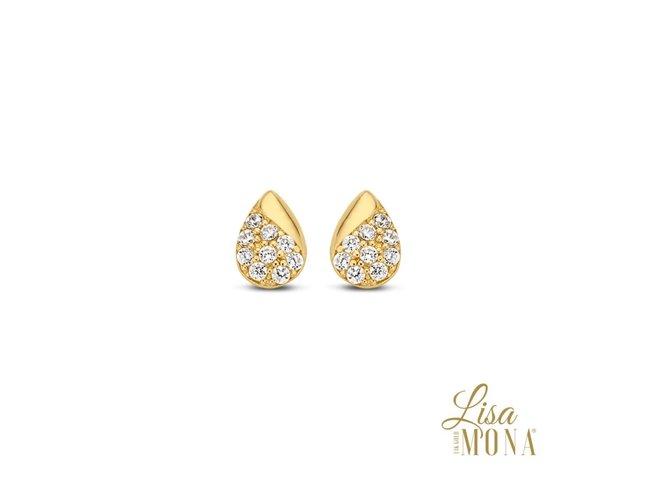 Lisa Mona 14K | Boucles d'Oreilles | Ort Jaune | G0090