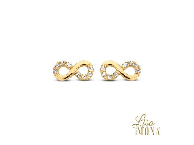 Lisa Mona 14K | Boucles d'Oreilles | Or Jaune | G0092