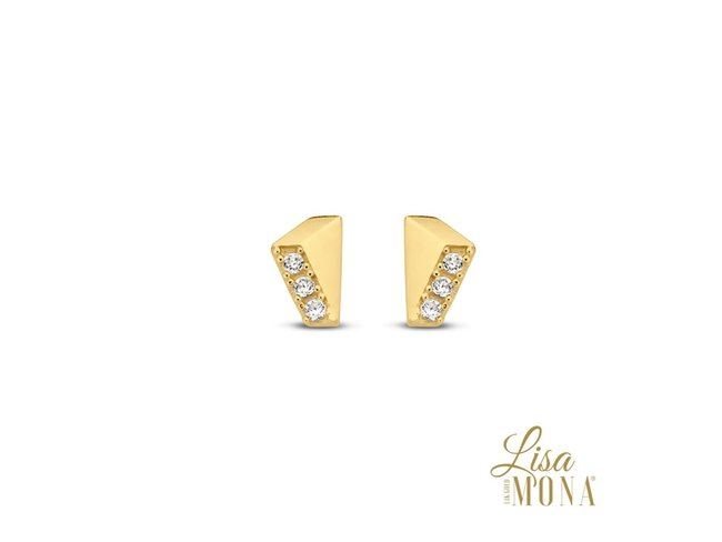 Lisa Mona 14K | Boucles d'Oreilles | Or Jaune | G0089