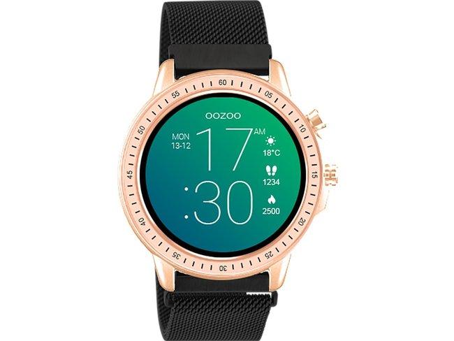 OOZOO   Smartwatch   Métallique Noir   Rosé   Q00308