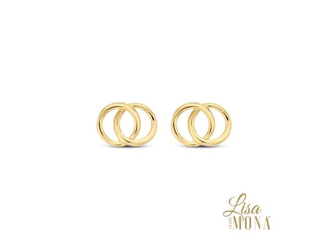 Lisa Mona 14K | Boucles d'Oreilles | Or Jaune | G0040