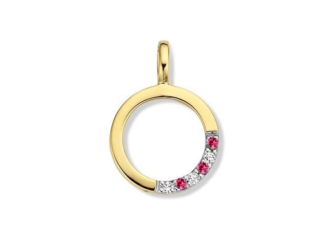 Loumya Gold | Pendentif | Or Jaune | Rubis | Diamants