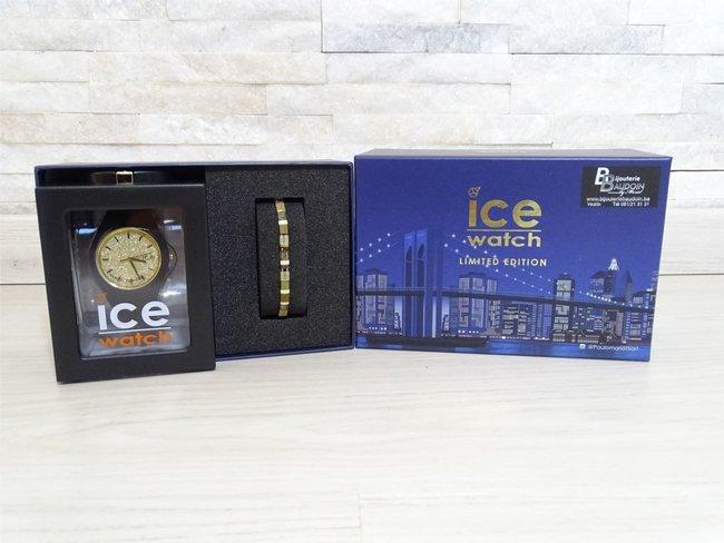 Ice-Watch | Ice Glitter | Box | Black Gold | Medium