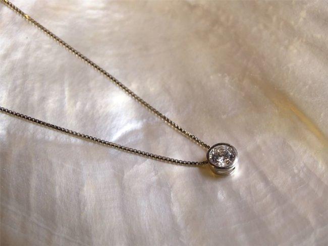 Loumya Gold   Collier   Or Blanc   Oxyde de Zirconium