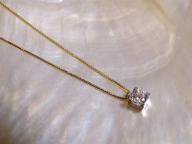 Loumya Gold | Collier | Or Bicolore | Oxyde de Zirconium