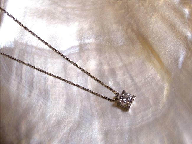 Loumya Gold | Collier | Or Blanc | Oxyde de Zirconium