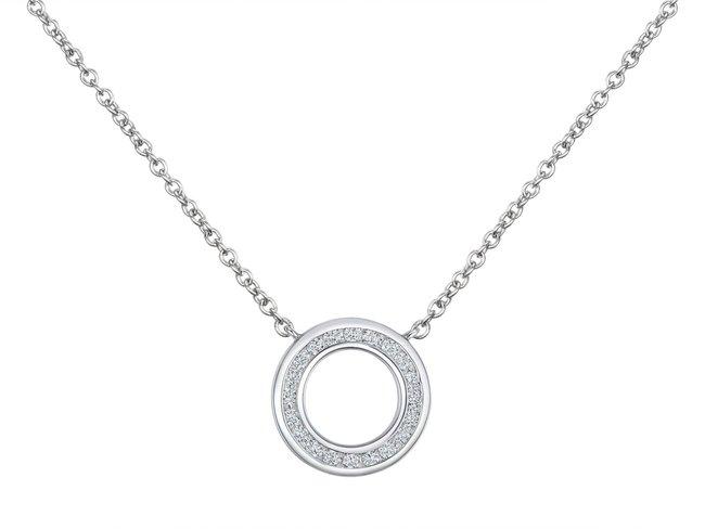 Emmilou | Collier | Or Blanc | Diamants