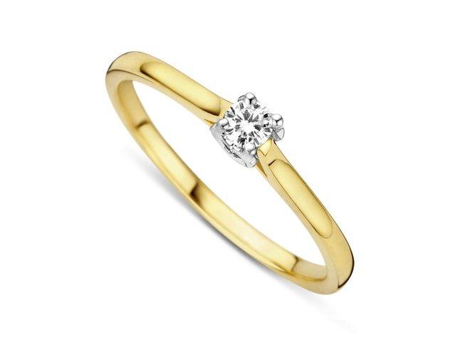 Loumya Gold | Bague | Or Bicolore| Diamant