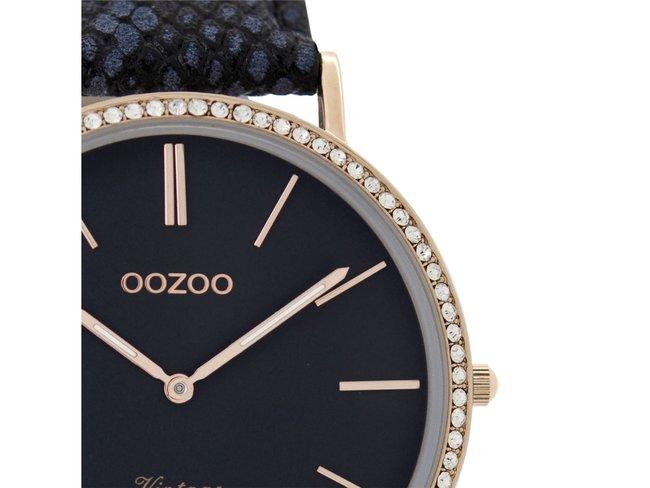 OOZOO   Cuir Antracite Bleu   C8889
