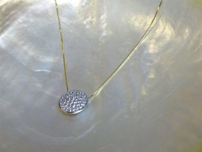 Loumya Gold   Collier   Or Bicolore   Oxyde de Zirconium