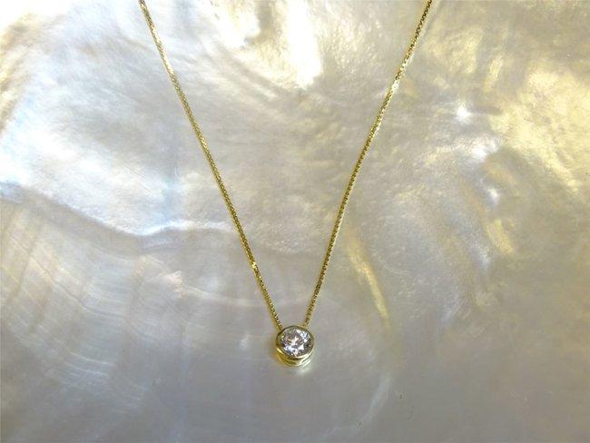 Loumya Gold   Collier   Or Jaune   Oxyde de Zirconium