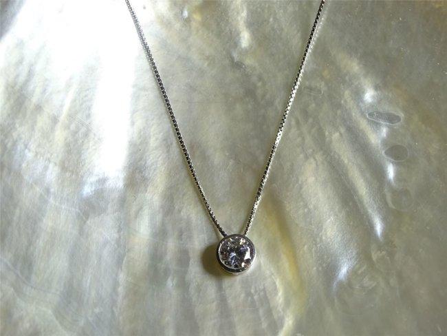 Loumya Gold | Collier | Or Blanc | Oxyde de Zirconium | 5mm