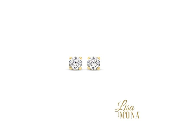 Lisa Mona 14K | Boucles d'Oreilles | Or Jaune | G0095
