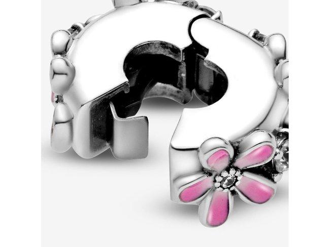 Pandora   Charm   Clip   Marguerites Roses   798809C01