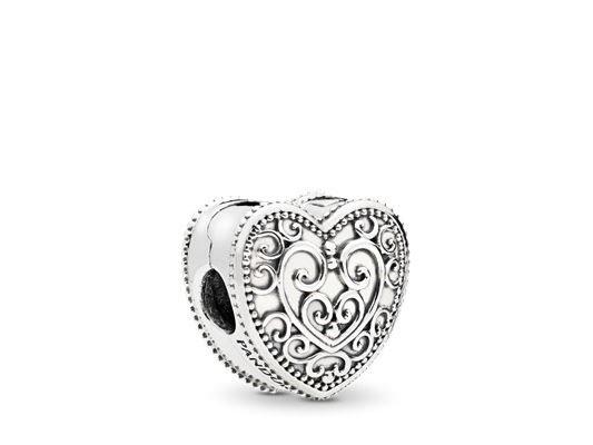 Pandora   Charm   Clip   Enchanted Heart   797024