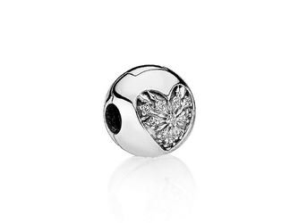 Pandora   Charm   Clip   Heart Of Winter   796388CZ