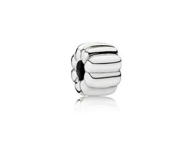 Pandora   Charm   Clip   Ribbed   790163