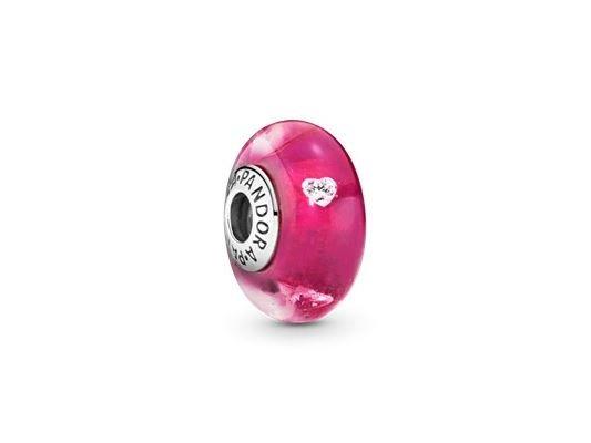 Pandora   Charm   Murano   Pink Heart   791664PCZ