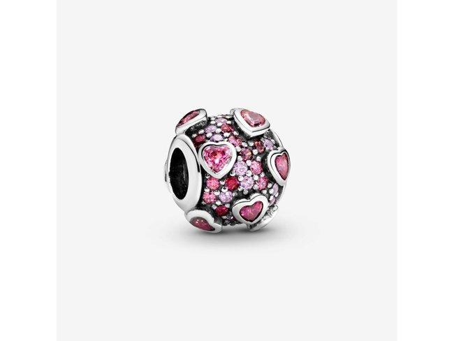 Pandora   Charm   Coeurs Surélevés   796555CZSMX