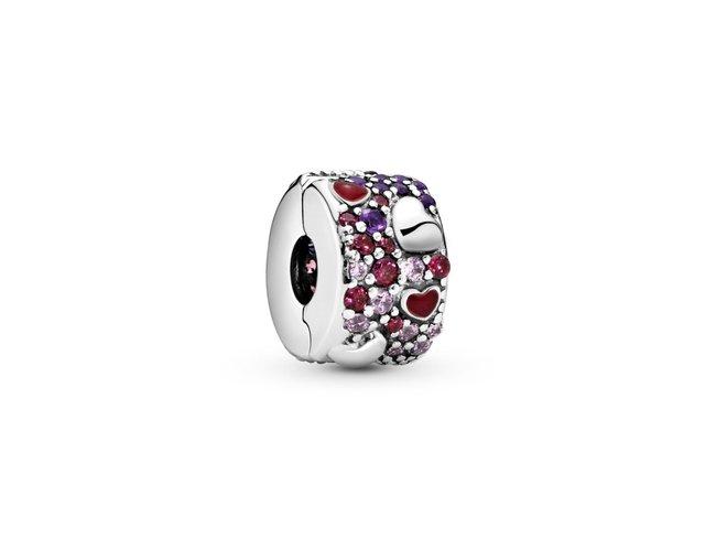 Pandora   Charm   Clip   Coeurs Asymétriques   797838CZRMX