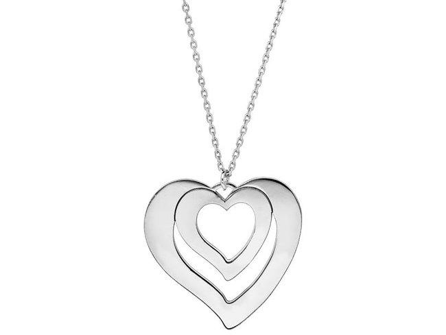 Loumya Silver | Collier | Argent | Double Coeurs | Personnalisable
