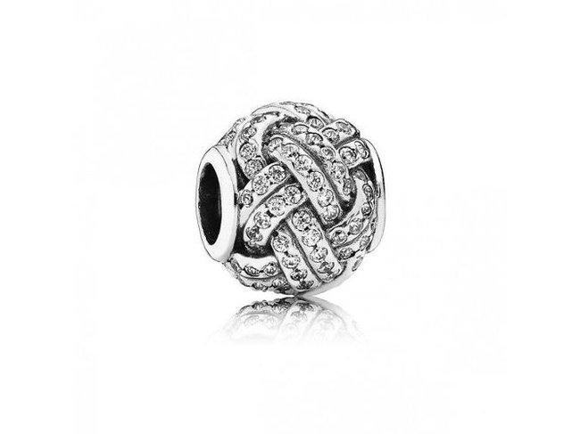 Pandora   Charm   Love Knot Silver   791537CZ