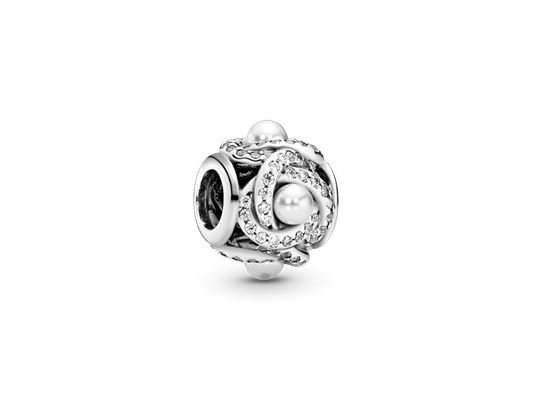 Pandora   Charm   Luminous Love Knot   792105WCP