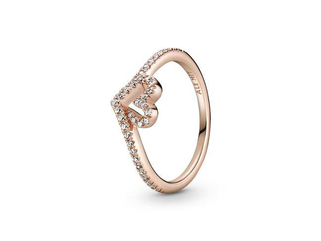 Pandora | Bague | Cœur Vœu Scintillant | Rosé | 189302C01