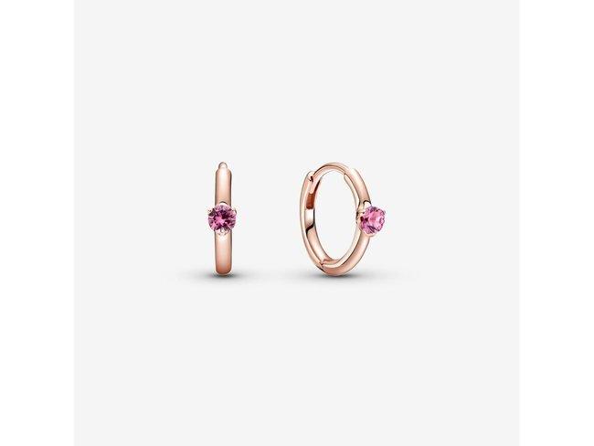 Pandora | Créoles | Enveloppantes Solitaire Rose | 289304C03