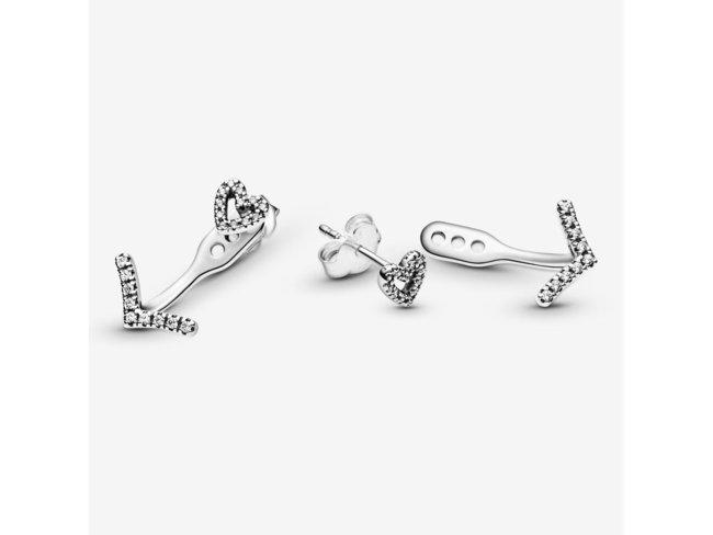 Pandora | Boucles d'Oreilles |Cœur Vœu Scintillant|299280C01